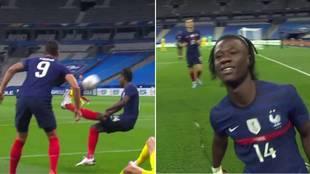La extraña chilena de Camavinga: así fue su golazo en su segundo partido con Francia