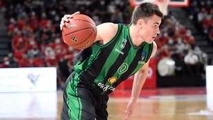 Nenad Dimitrijevic, en un momento del encuentro ante el Bourg En...