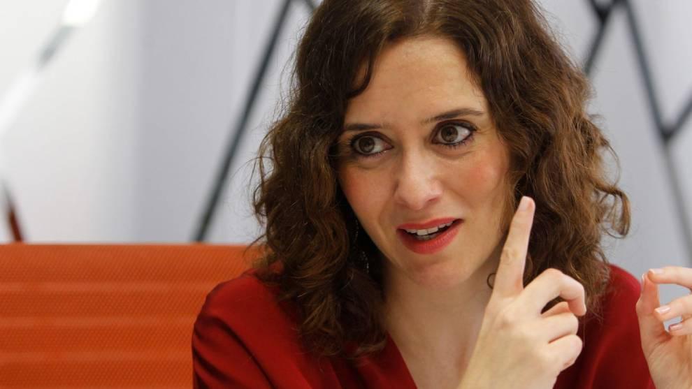 Isabel Díaz Ayuso, presidenta de la Comunidad de Madrid.