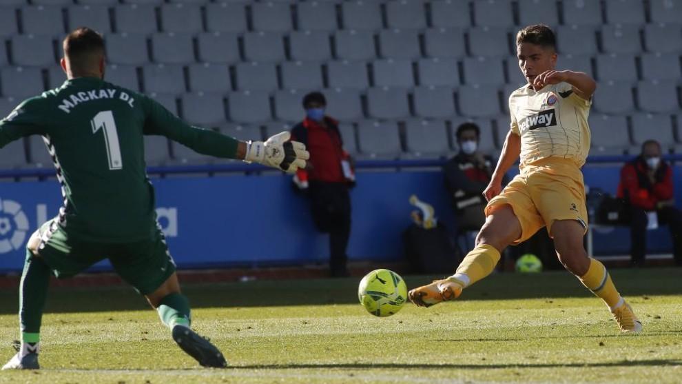 Nico Melamed, durante el encuentro contra el Sabadell