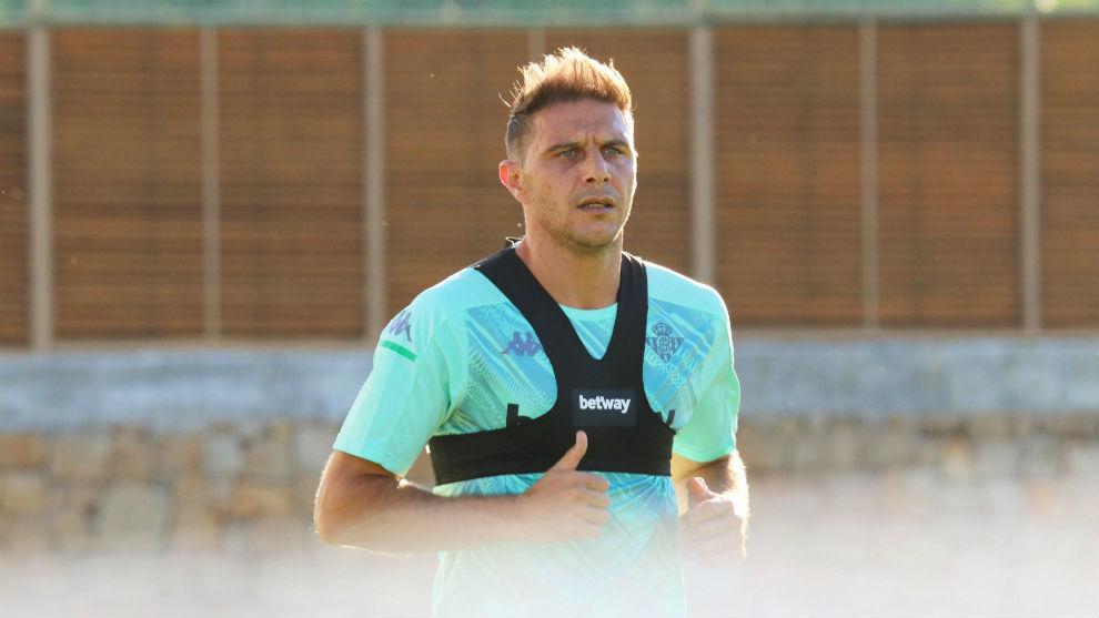 Joaquín, en un entrenamiento