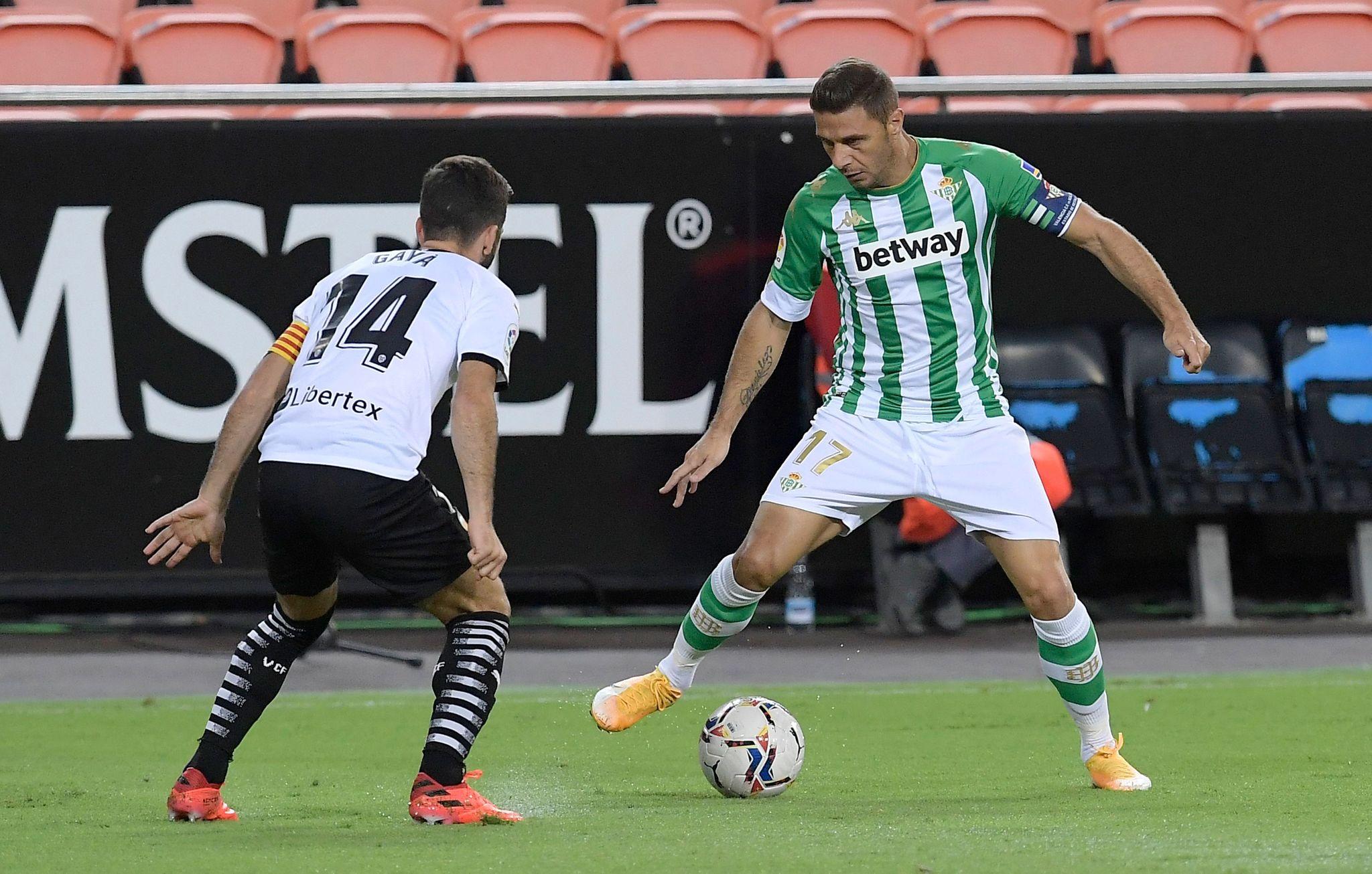 Joaquín, en el partido frente al Valencia