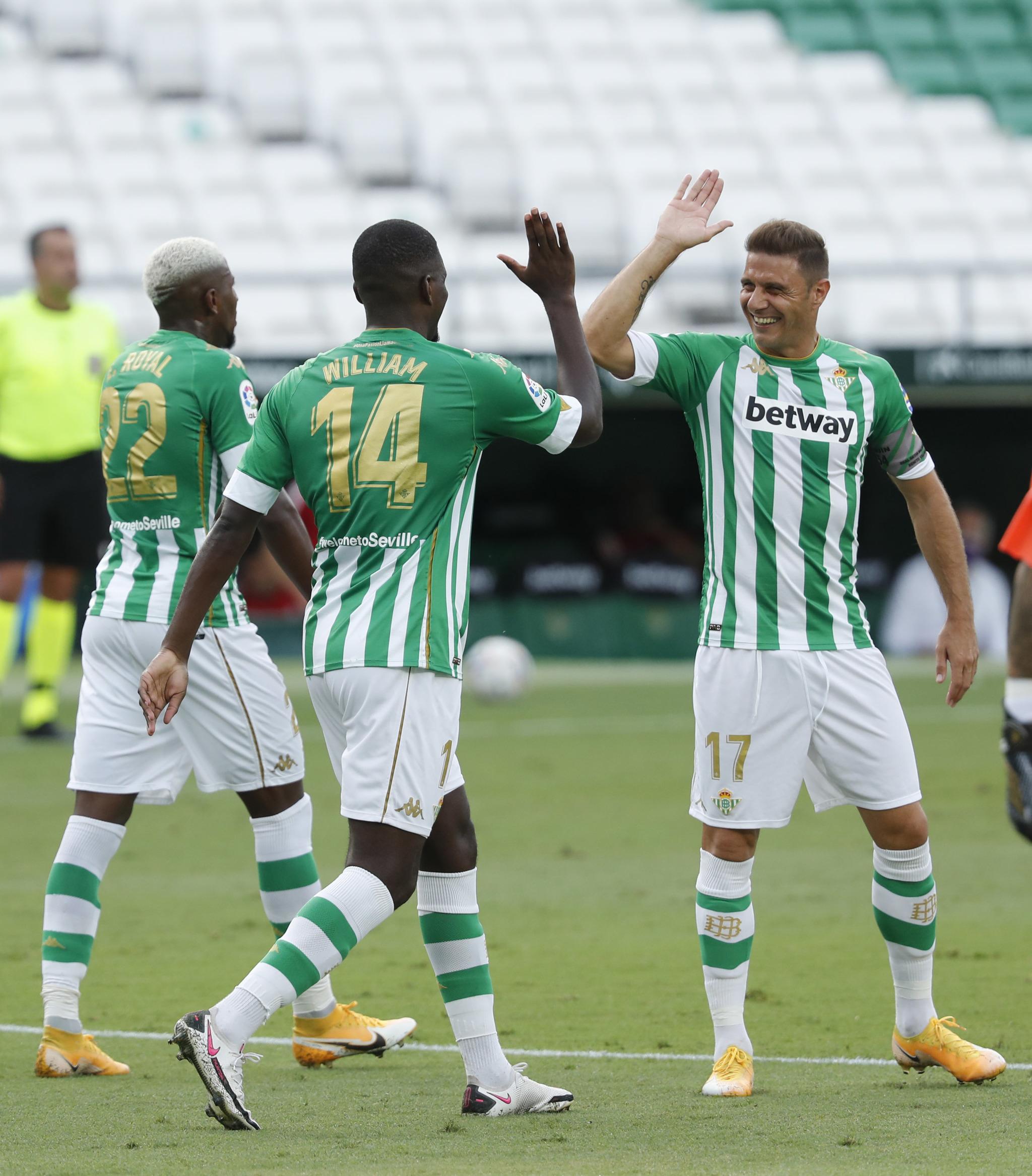 Joaquín, celebrando un gol esta temporada