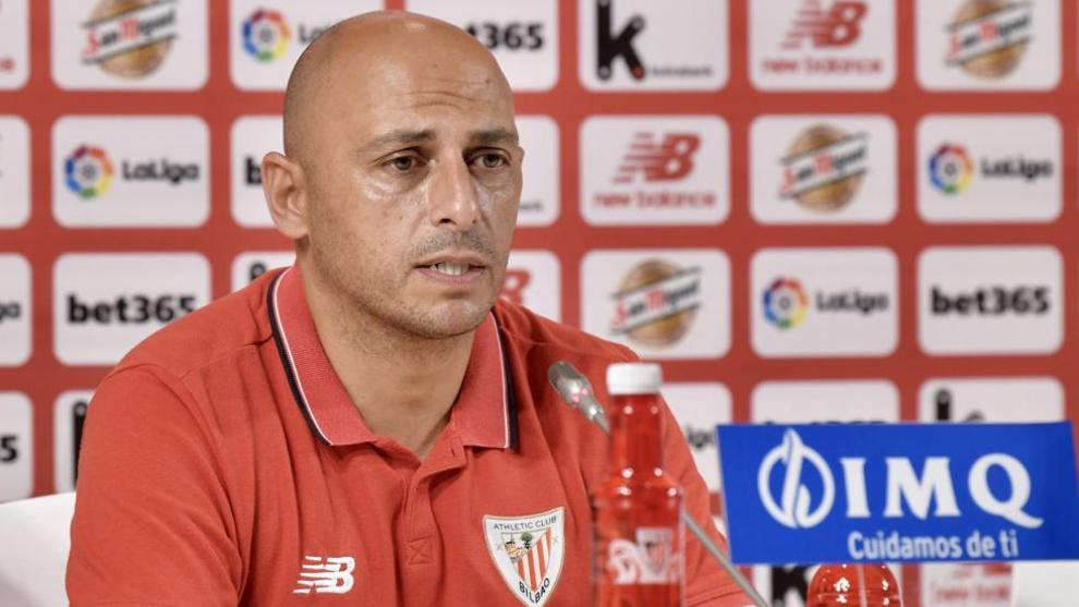 Ángel Villacampa, durante una rueda de prensa.
