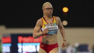 Adiaratou Iglesias, en el Campeonato del Mundo de atletismo...