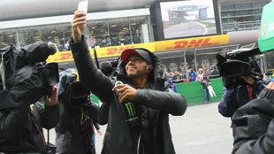 Hamilton, durante el pasado Gran Premio de China.