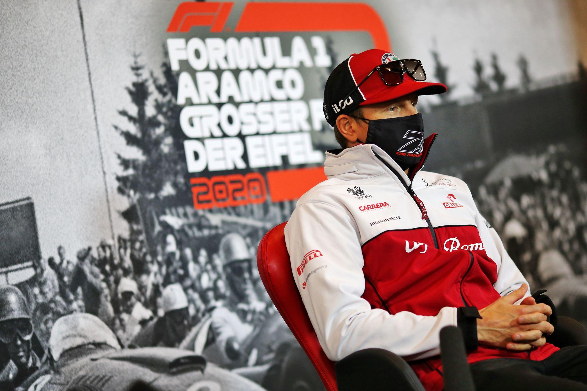 Raikkonen, en la rueda de prensa del GP de Eifel.