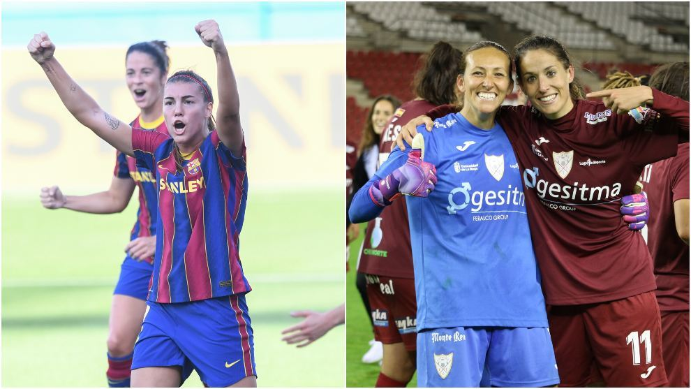 Marta Torrejón, Patri Guijarro, Pamela Tajonar y Olga García.
