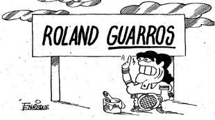 Caricatura sobre los hechos publicada en MARCA
