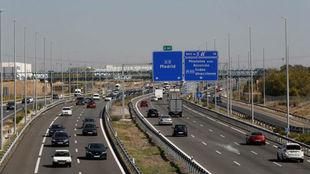 Estado que presentaba la A-5 en sentido salida de Madrid a primera...