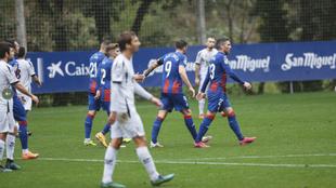 La SD Eibar después del gol de Sergi Enrich en el partido amistoso...