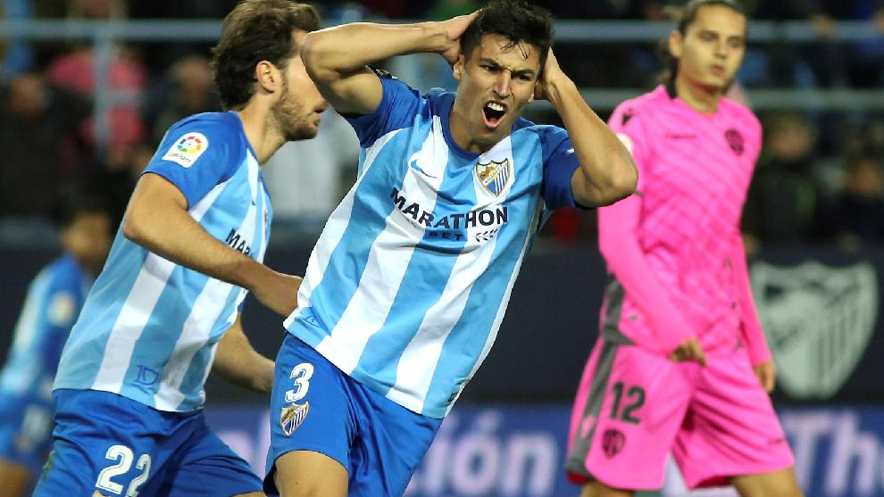 Diego González, durante un partido con el Málaga.