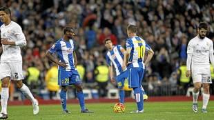 Mamadou Sylla, durante un partido del Espanyol en el Santiago...