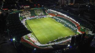 Desalojo del Estadio León.