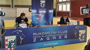 Presentación de Vlado Sola como nuevo entrenador del Zagreb /