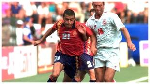 Luis Enrique, ante Blick en el Mundial de Estados Unidos.