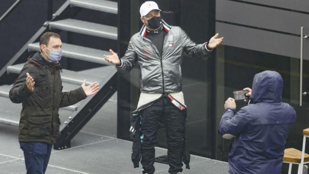 Bottas, ayer en el GP de Eifel en Alemania.