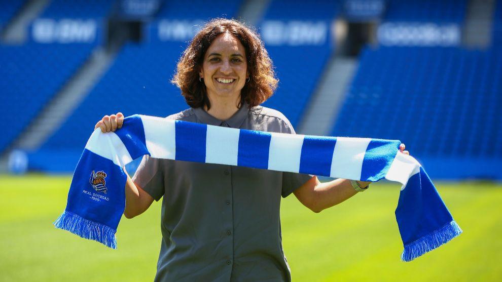 Natalia Arroyo, el día de su presentación como entrenadora de la...