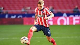 Trippier, durante un partido del Atlético.