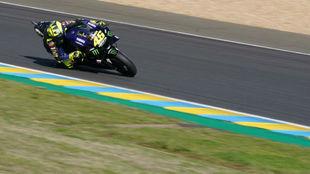 Valentino Rossi, hoy en Le Mans.