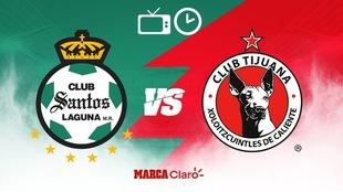 Santos vs Tijuana: Horario y dónde ver por TV el partido.
