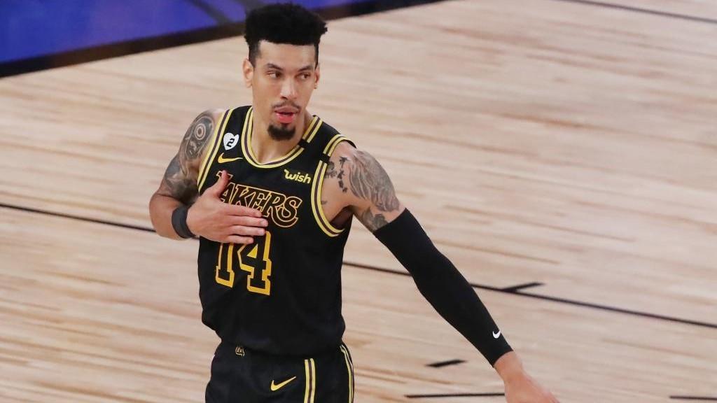 Danny Green, escolta de los Lakers, en un momento del quinto encuentro...