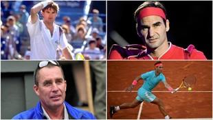 Connors, Federer, Lendl y Nadal