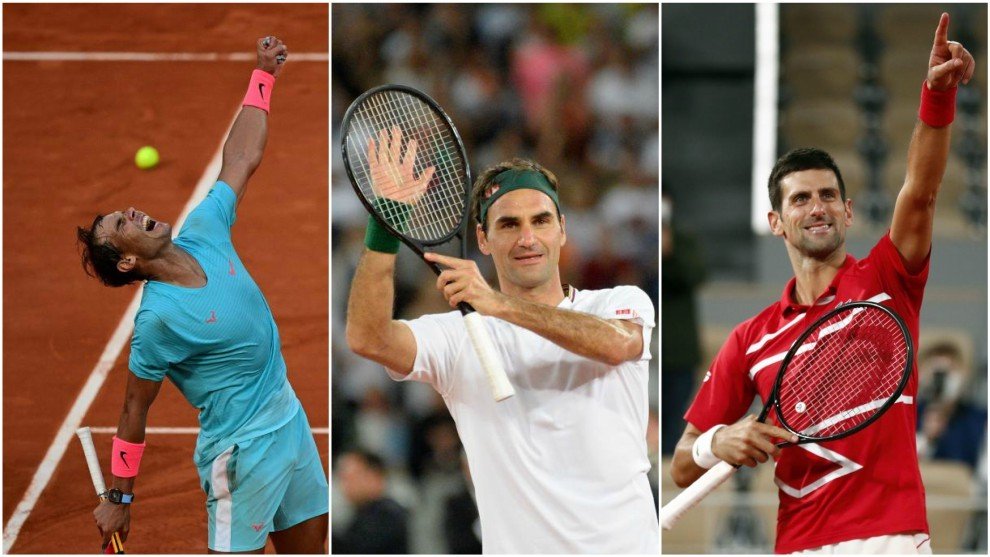 Nadal, Federer and Djokovic