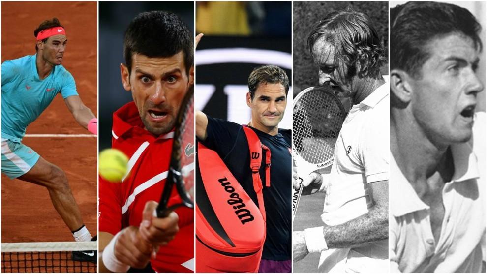 Nadal, Djokovic, Federer, Laver y Rosewall