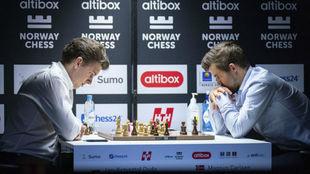 Duda y Carlsen, en la sexta jornada del 8º Altibox Nrway Chess