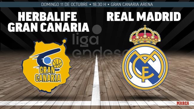 Gran Canaria-Real Madrid, en directo