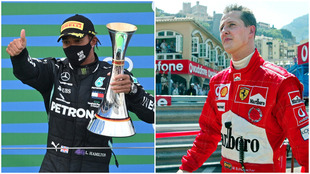 El británico empató al alemán en victorias durante el Grna Premio...