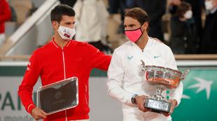 Novak Djokovic reconoció el triunfo de Rafael Nadal en Roland Garros....
