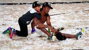 Rajon Rondo  hace historia con los Lakers.