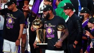 LeBron James hace historia con su campeonato con los Lakers.