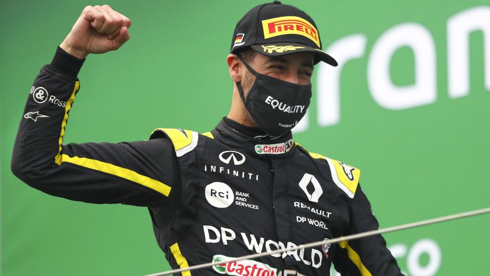 Ricciardo, en el podio.