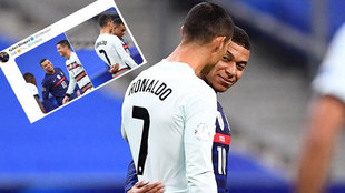 Cristiano Ronaldo and Mbappé.