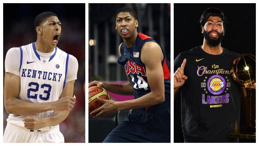 El triplete histórico de Anthony Davis: campeón olímpico, de la NCAA y de la NBA
