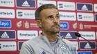 Luis Enrique, seleccionador de España, en una comparecencia ante los...