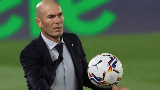 Zinedine Zidane, en un momento del Madrid-Valladolid