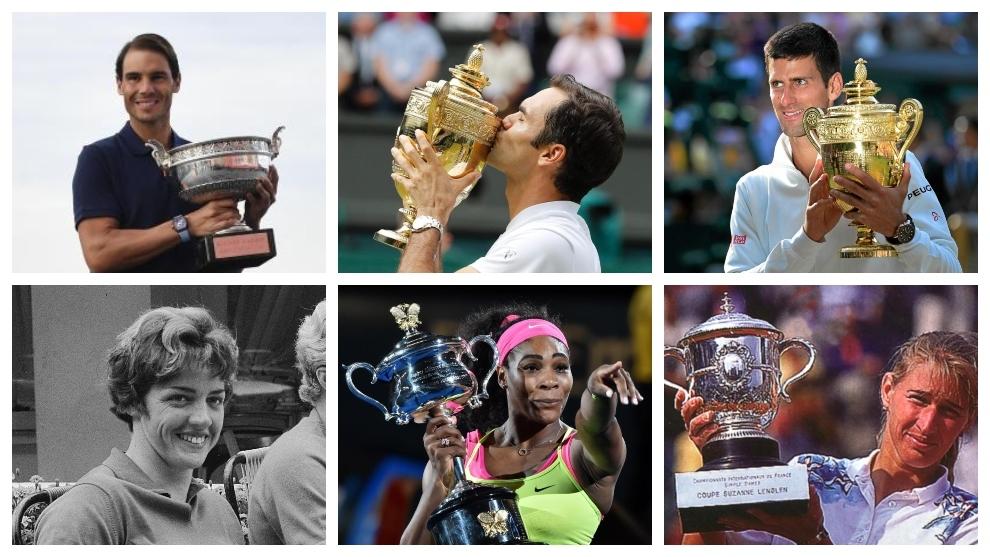 ¿Quiénes son los tenistas con más títulos de Grand Slam?