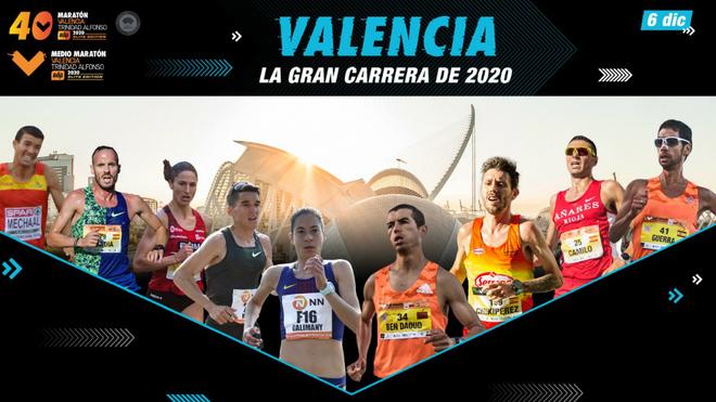 La flor y nata del fondo español se dará cita en el Maratón y Medio Maratón de Valencia