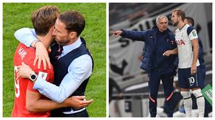 Harry Kane con Gareth Southgate en la selección inglesa y con José...