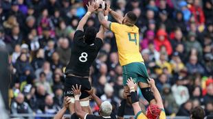 Una imagen del Nueva Zelanda-Australia del pasado domingo donde se...