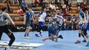 Imagen del partido disputado entre el Cangas y el Granollers /