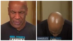 ¡Surrealista! Mike Tyson cabecea de sueño y balbucea en mitad de una entrevista