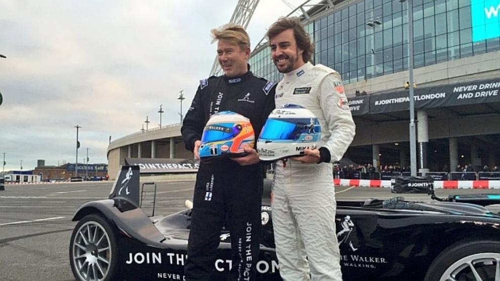 Hakkinen y Alonso.
