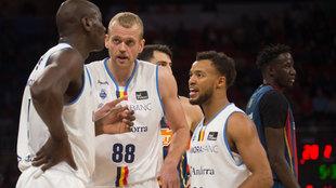 Daniel Clark luciendo la camiseta de Andorra en la ACB.