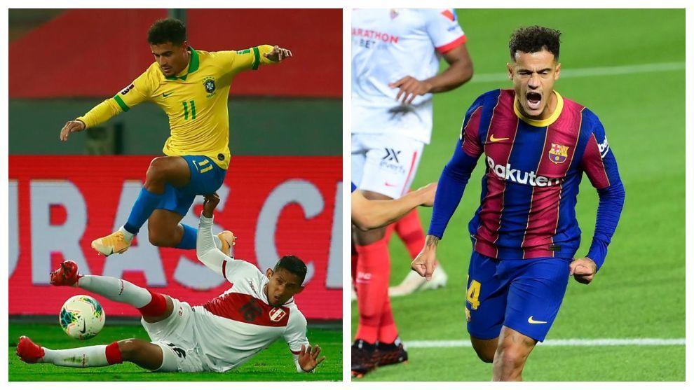 Coutinho, con Brasil y con el Barça.