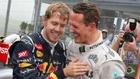 Vettel y Schumacher.